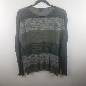 EILEEN FISHER GREY LIGHT WEIGHT KNIT SWEATER SZ M
